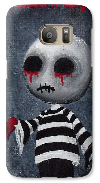 Galaxy Case featuring the painting Big Juicy Tears Of Blood And Pain 1 by Oddball Art Co by Lizzy Love