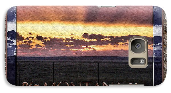 Galaxy Case featuring the photograph Big Montana Sky by Susan Kinney