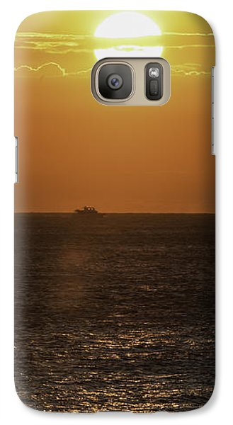 Galaxy Case featuring the photograph Big Ocean Small Boat by Jim Moore