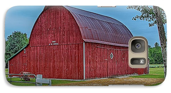 Galaxy Case featuring the photograph Big Red Barn At Cross Village by Bill Gallagher
