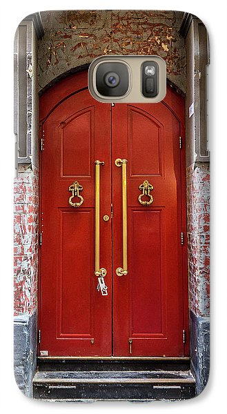 Galaxy Case featuring the photograph Big Red Doors by Perry Webster