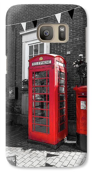 Galaxy Case featuring the photograph Big Red Little Red by Scott Carruthers