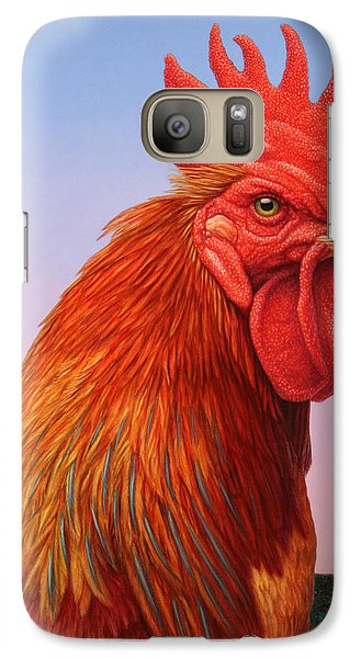 Big Red Rooster Galaxy S7 Case by James W Johnson