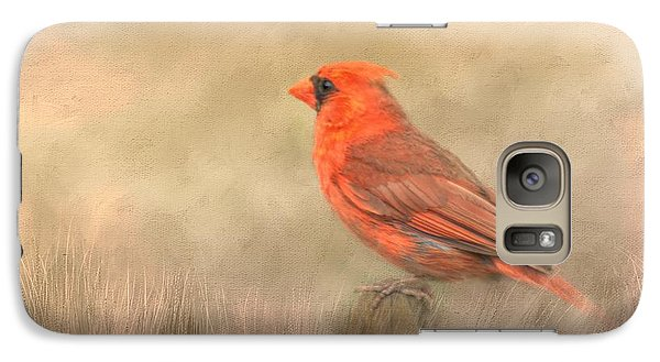 Galaxy Case featuring the mixed media Big Red by Steven Richardson