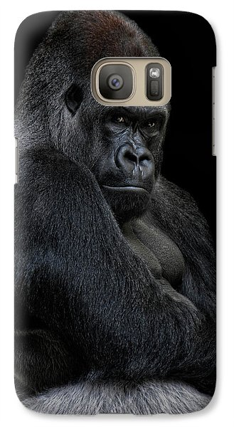 Gorilla Galaxy S7 Case - Big Silverback by Joachim G Pinkawa