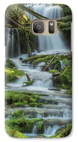 Galaxy Case featuring the photograph Big Spring Creek by Angie Vogel