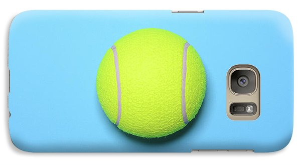 Big Tennis Ball On Blue Background - Trendy Minimal Design Top V Galaxy S7 Case
