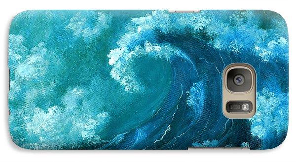 Galaxy S7 Case featuring the painting Big Wave by Anastasiya Malakhova