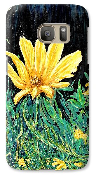 Galaxy Case featuring the painting Big Yellow by Ian  MacDonald