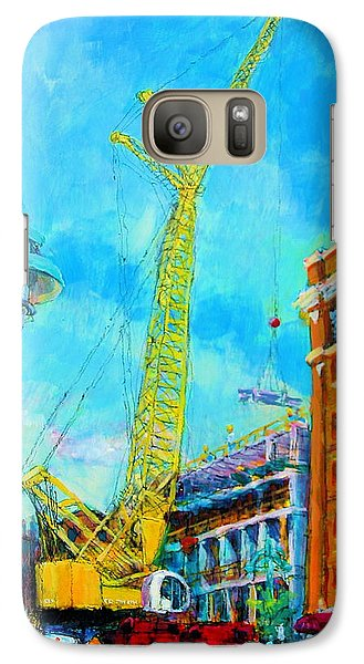 Galaxy Case featuring the painting Big Yellow by Les Leffingwell