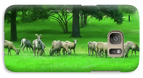 Galaxy Case featuring the digital art Bighorn Sheep Ewes  by Chris Flees