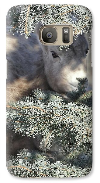 Galaxy Case featuring the photograph Bighorn Sheep Lamb's Hiding Place by Jennie Marie Schell