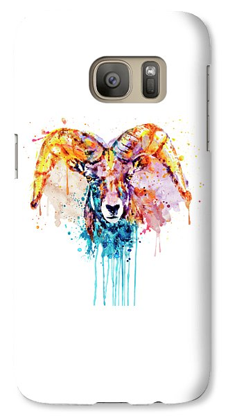 Galaxy Case featuring the mixed media Bighorn Sheep Portrait by Marian Voicu