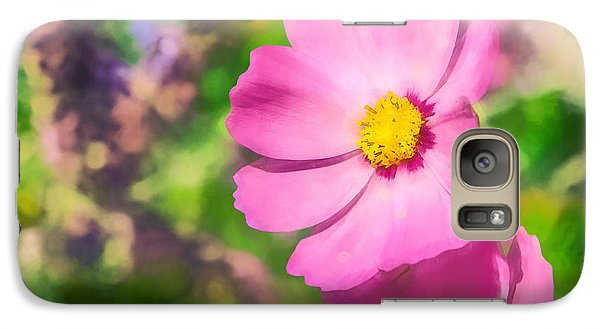 Galaxy Case featuring the photograph Bright Pink Cosmos by Eleanor Abramson