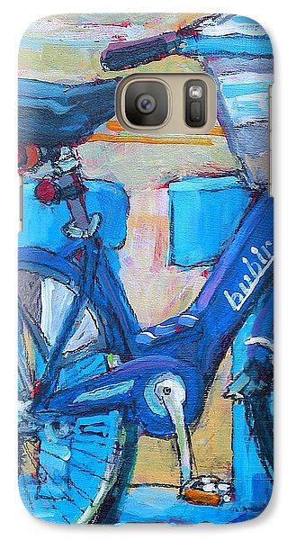 Galaxy Case featuring the painting Bike Bubbler by Les Leffingwell