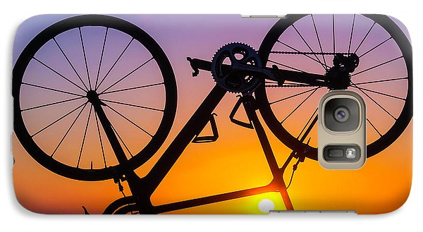 Bicycle Galaxy S7 Case - Bike On Seawall by Garry Gay