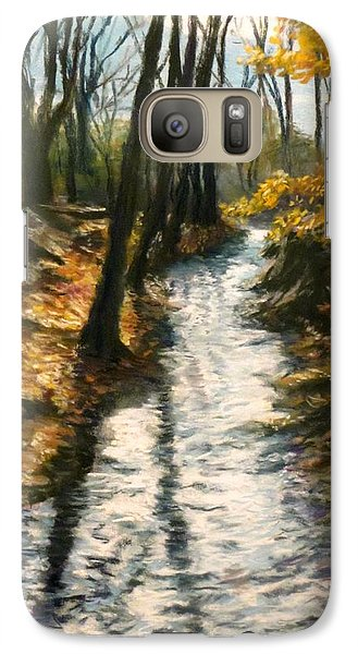 Galaxy Case featuring the pastel Bike Path Brook by Jack Skinner