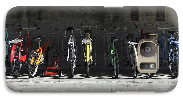 Bicycle Galaxy S7 Case - Bike Rack by Cynthia Decker