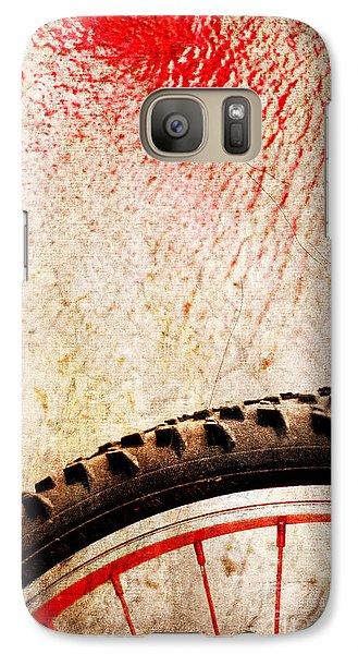 Bike Wheel Red Spray Galaxy S7 Case