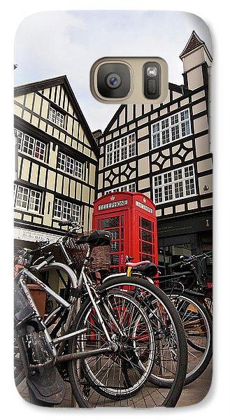Galaxy Case featuring the photograph Bikes Galore In Cambridge by Gill Billington