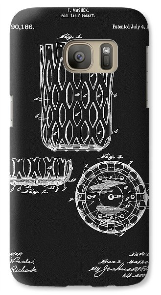 Galaxy Case featuring the mixed media Billiards Table Pocket Patent by Dan Sproul