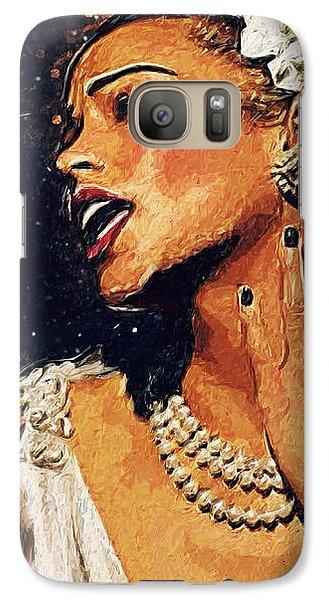 Harlem Galaxy S7 Case - Billie Holiday by Taylan Apukovska