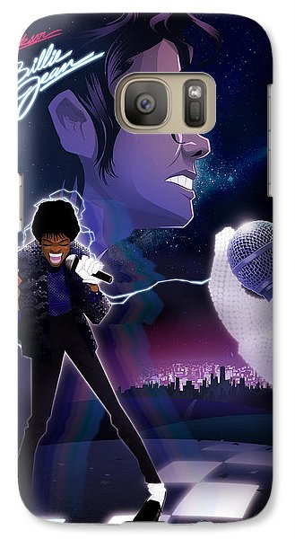 Galaxy Case featuring the drawing Billie Jean 2 by Nelson dedos Garcia