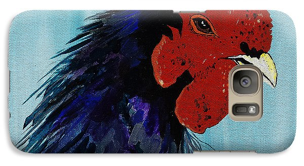 Galaxy Case featuring the painting Billy Boy The Rooster by Janice Rae Pariza