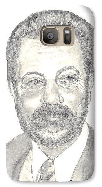 Galaxy Case featuring the drawing Billy Joel Portrait by Carol Wisniewski
