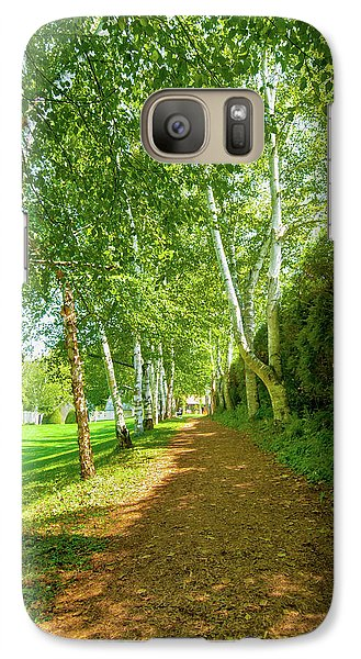 Galaxy Case featuring the photograph Birch Gauntlet by Greg Fortier