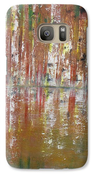Galaxy Case featuring the painting Birch In Abstract by Gary Smith