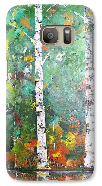 Galaxy Case featuring the painting Birch In Color by Gary Smith
