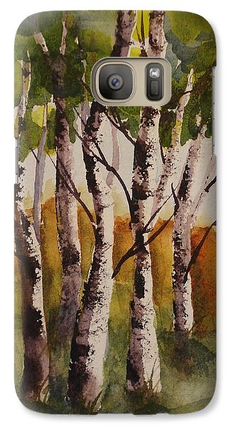 Galaxy Case featuring the painting Birch by Marilyn Jacobson