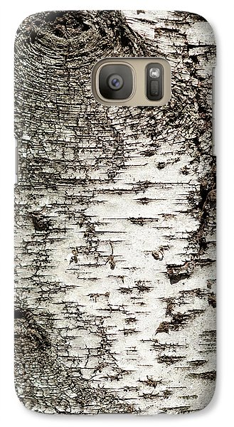 Galaxy S7 Case featuring the photograph Birch Tree Bark by Christina Rollo