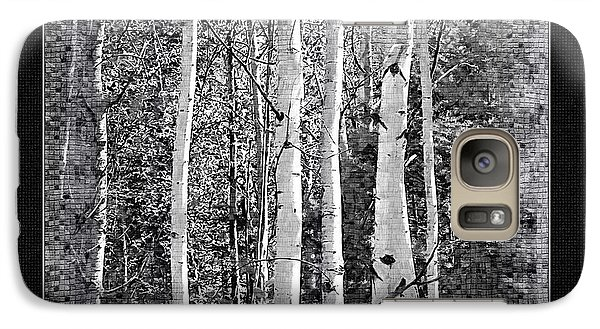 Galaxy Case featuring the photograph Birch Trees by Susan Kinney