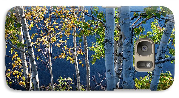 Galaxy Case featuring the photograph Birches On Lake Shore by Elena Elisseeva