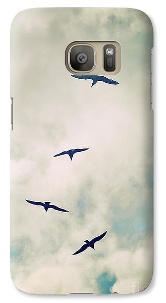 Galaxy Case featuring the photograph Bird Dance by Lyn Randle