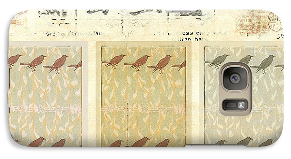 Galaxy Case featuring the mixed media Bird Design by Carol Leigh
