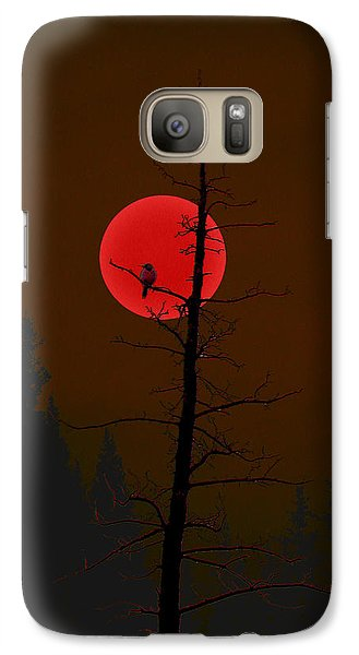 Galaxy Case featuring the digital art Bird In A Tree by Stuart Turnbull