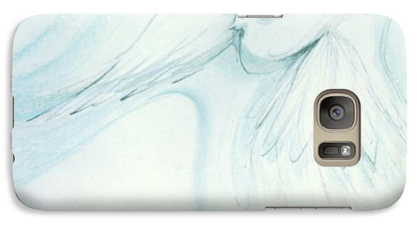 Galaxy Case featuring the drawing Bird In Flight by Denise Fulmer