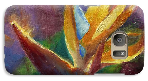 Galaxy Case featuring the painting Bird Of Paradise - Tropical Hawaiian Flowers by Karen Whitworth