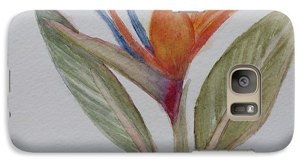 Galaxy Case featuring the painting Bird Of Paradise by Donna Walsh