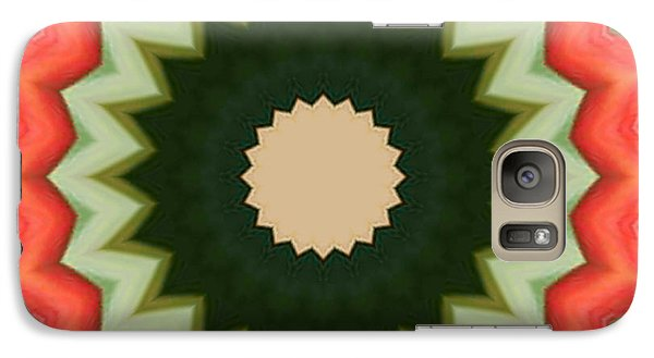 Galaxy S7 Case featuring the photograph Bird Of Paradise Kaleidoscope by Bill Barber