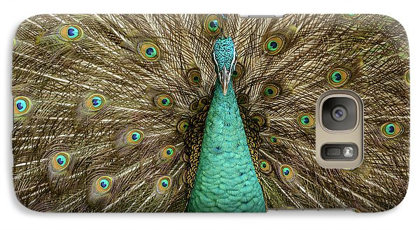 Galaxy Case featuring the photograph Peacock by Werner Padarin