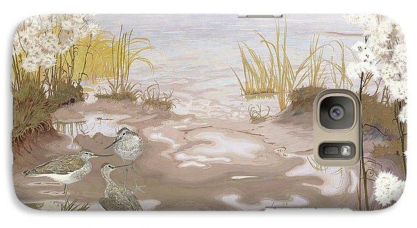 Kingfisher Galaxy S7 Case - Bird On The Mud Flats Of The Elbe by Friedrich Lissmann
