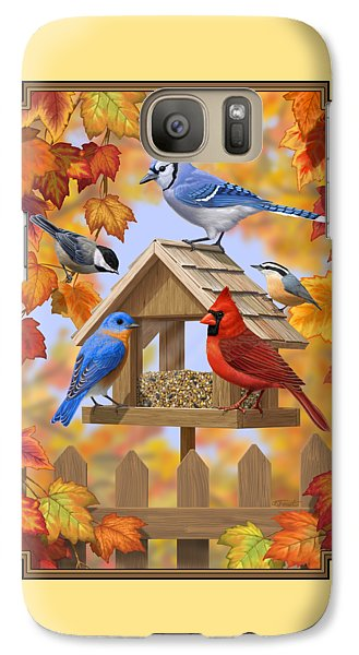 Bird Painting - Autumn Aquaintances Galaxy S7 Case