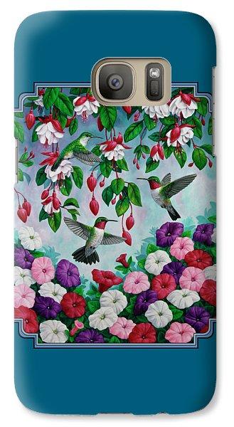 Bird Painting - Hummingbird Heaven Galaxy S7 Case by Crista Forest