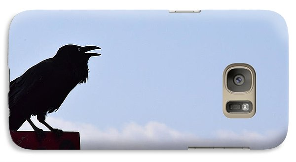 Crow Profile Galaxy S7 Case by Sandy Taylor
