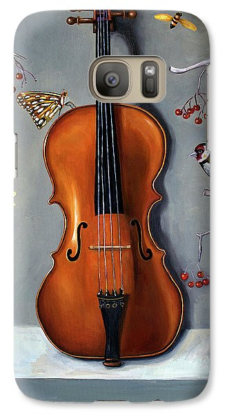 Violin Galaxy S7 Case - Bird Song by Leah Saulnier The Painting Maniac
