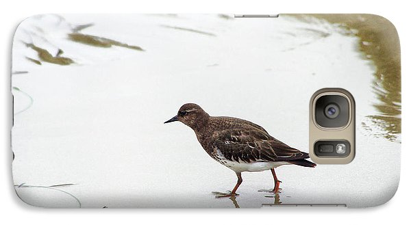 Galaxy Case featuring the photograph Bird Walking On Beach by Mariola Bitner